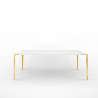 Natalia Dining Table Ivory Long